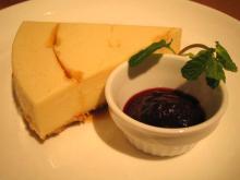キャラメルのレアチーズケーキ