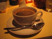 最後はコーヒーでしめる