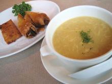 スープと揚げ物