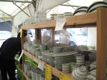 白山陶器の陶器市