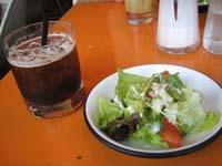 サラダ&アイスコーヒー