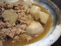 鶏そぼろと里芋の煮物