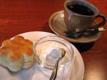 スコーンとコーヒー
