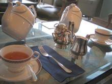 ケーキセットの紅茶