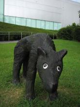 藤浩志「犬と散歩」