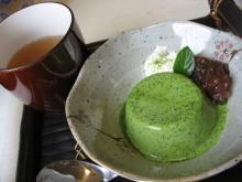 抹茶のパンナコッタとほうじ茶