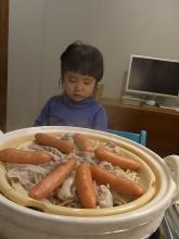 青衣と豚もやしウインナー蒸し鍋