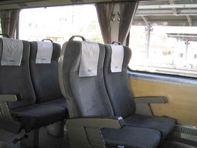 ムグンファ号の指定席