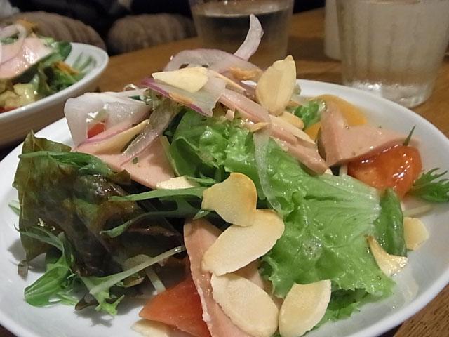 モルタデッラハムのサラダ